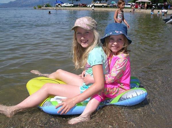 aquatic invasive species education girls-floating